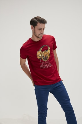 Bad Bear Erkek Tişört BAD MUSIC TEE LAVA
