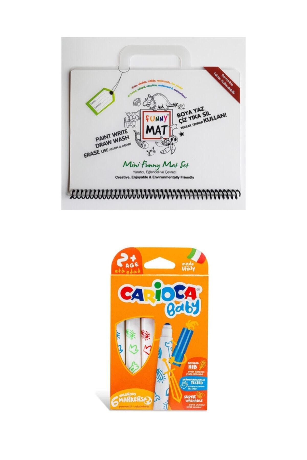 CARIOCA Toospik Akademi Çocuk Funny Mat Mini Set Carioca Baby Jumbo Keçeli Kalem Seti 6lı 1