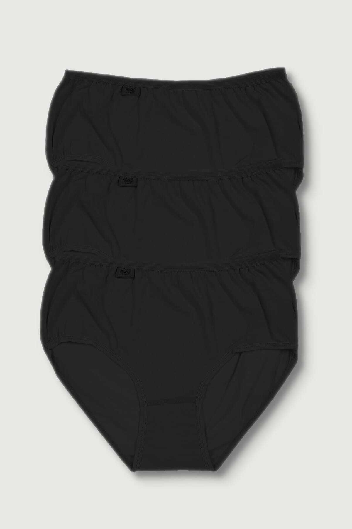 Tutku Kadın Siyah Bato Külot 3lü Paket 1