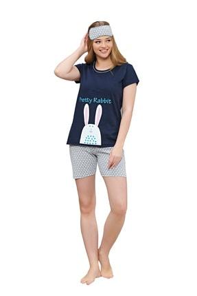 walkie Kadın Lacivert Şortlu Pijama Takımı