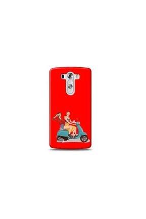 Ren Geyik Lg G3 Mini Motorcu Kırmızı Koleksiyon Telefon Kılıf Y-krmklf122