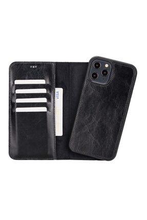 PLM Mw Deri Telefon Kılıfı Iphone 12 Pro Max Rst1 Siyah