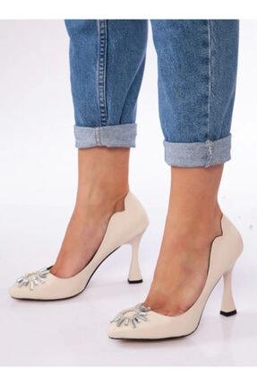 ayakkabıhavuzu Kadın Bej Cilt Topuklu Ayakkabı