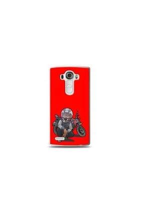 Ren Geyik Lg G4 Mini Motorcu Kırmızı Koleksiyon Telefon Kılıf Y-krmklf093