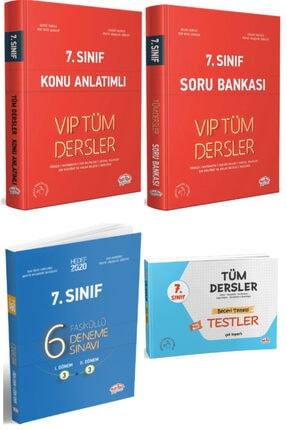 Editör Yayınları 7. Sınıf Tüm Dersler Vip Konu Anlatımlı + Soru Bankası + Yaprak Test + 6 Fasiküllü Deneme 4 Lü Set