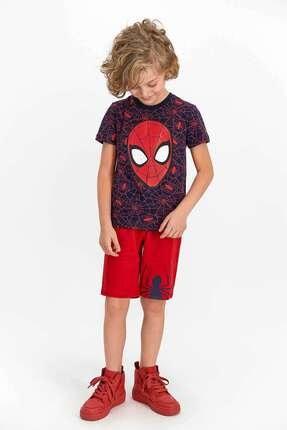 SPIDERMAN Erkek Lacivert Çocuk Bermuda Takım