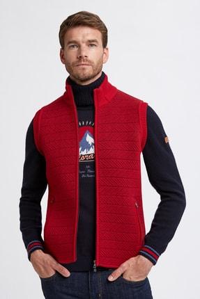 Hemington Erkek Koyu Kırmızı Merino Yün Activewear Triko Yelek
