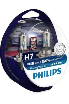 Philips H7 +150 Fazla Işık Racing Vision Xtreme 12972rvs2 12v