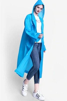 Arsimo Unisex Yağmurluk Kapüşonlu Mavi