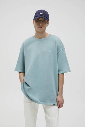 Pull & Bear Koton Stwd T-shirt - %100 Organik Pamuklu