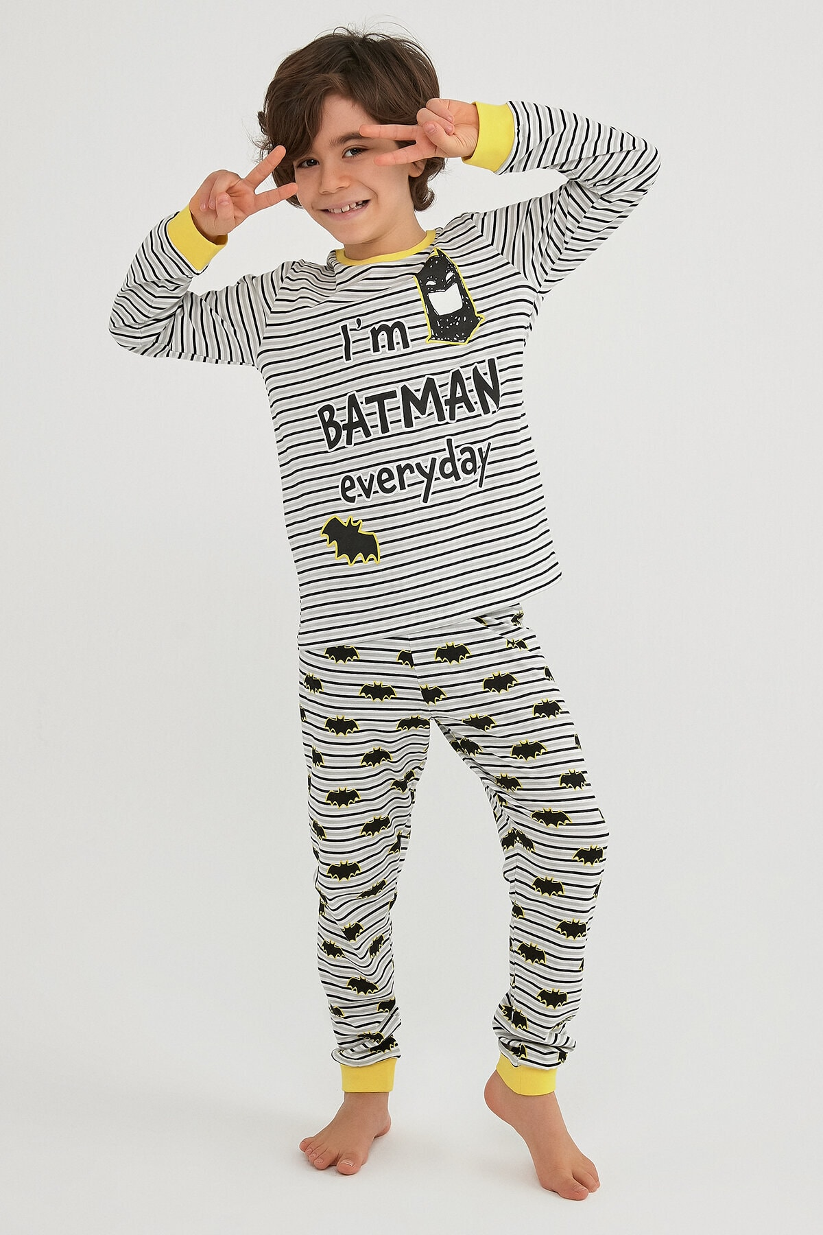 Penti Çok Renkli Erkek Çocuk Lıc Batman Ls 2li Pijama Takımı 1