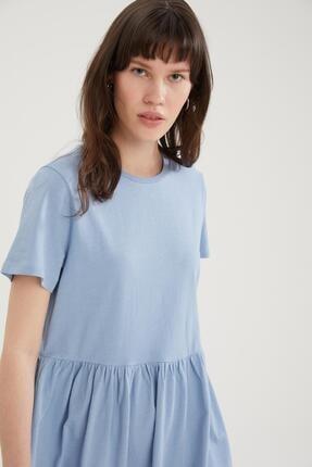 DeFacto Basic Beli Büzgülü Relax Fit Elbise