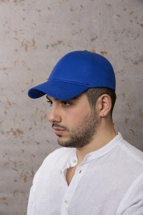ÜN ŞAPKA Saks Mavisi Şapka - Arkası Ayarlanabilir Şapka