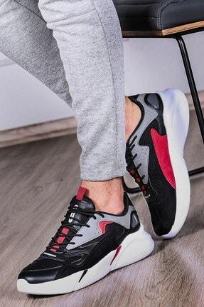 Madmext Erkek Yüksek Taban Siyah-beyaz Spor Ayakkabı Ms062
