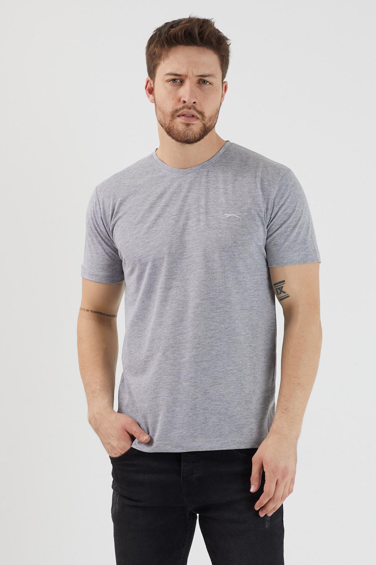 Slazenger SANDER Erkek T-Shirt Gri ST11TE083