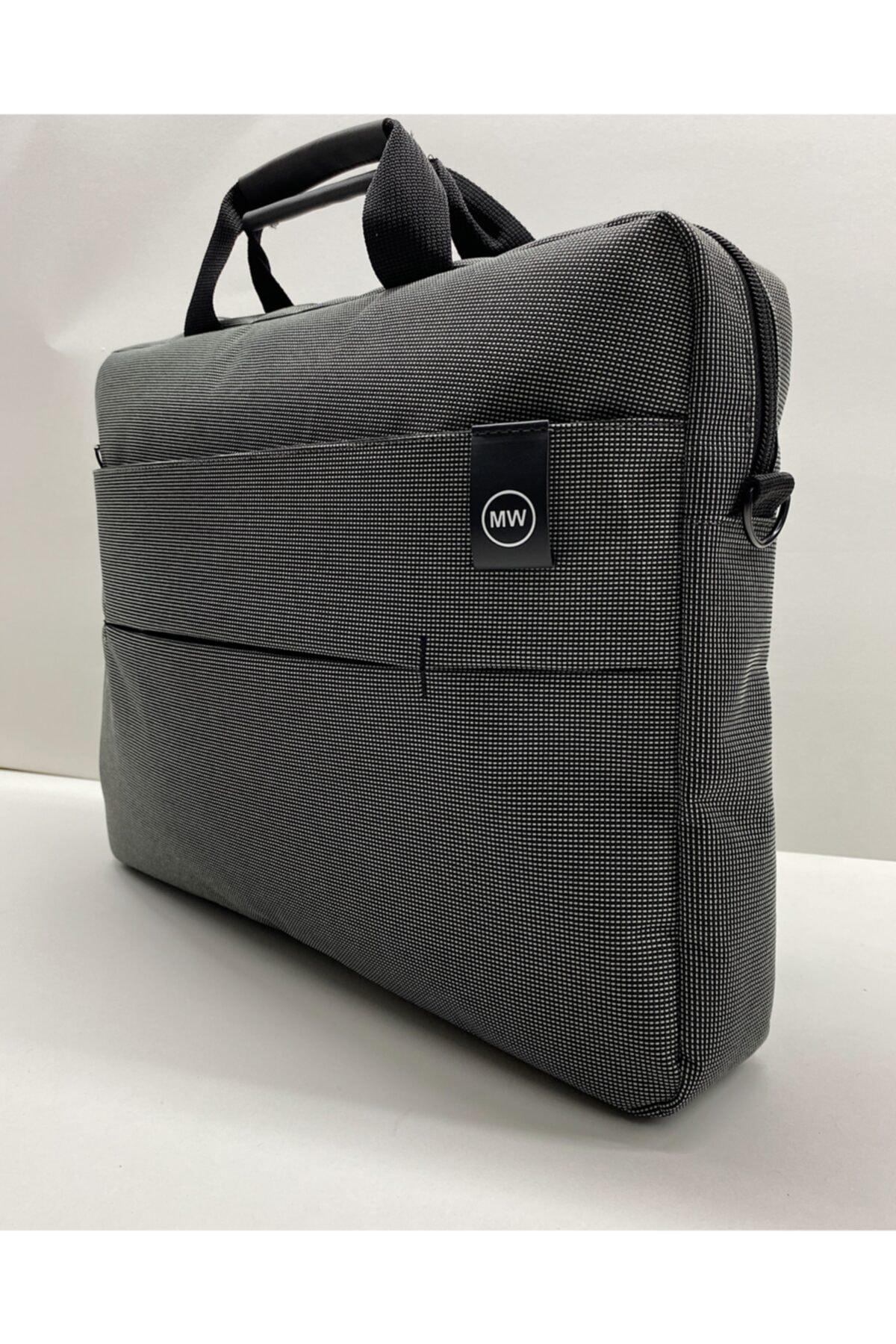 """Moda West Unisex Koyu Gri West Serisi 15.6"""" Inç Evrak Bilgisayar Notebook Laptop Çantası 1"""