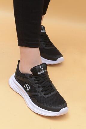 Evarmis Kadın Siyah Bağcıklı Sneaker