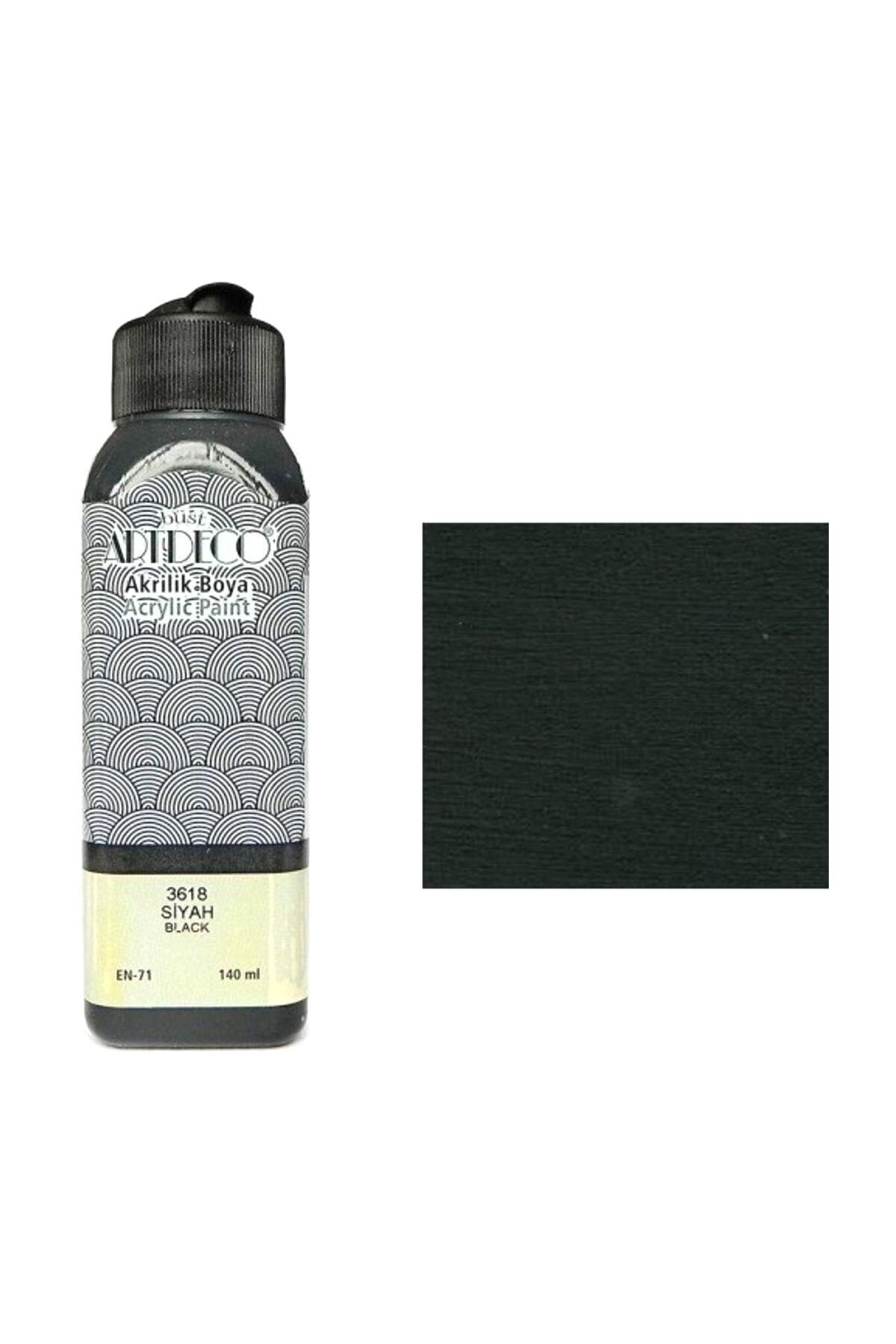 Artdeco Akrilik Boya 140 ml. Siyah 70r-3618 2