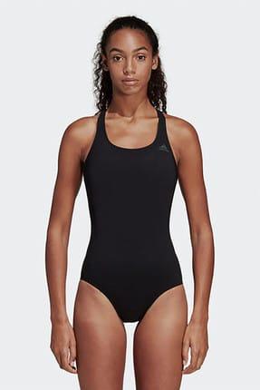 adidas Kadın Siyah Fit Suit Sol Yüzücü Mayosu Dq3312