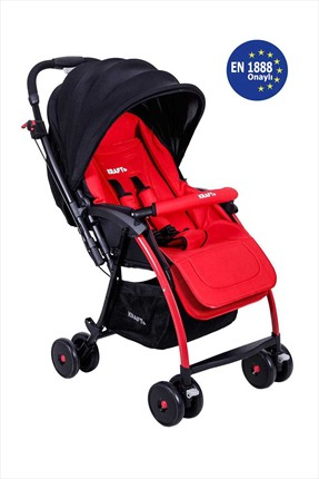 Kraft Pop Çift Yönlü Bebek Arabası Kırmızı /