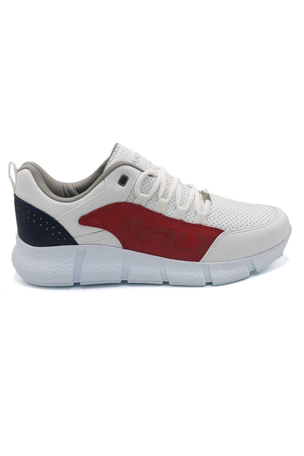 L.A Polo 021 Beyaz Kırmızı Beyaz Erkek Spor Ayakkabı 2