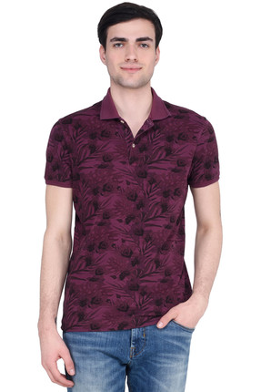 Lufian Erkek Bordo Polo Yaka T-shirt - LF17SMKW12013