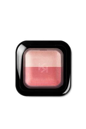KIKO 2'li Fırınlanmış Göz Farı - Bright Duo Baked Eyeshadow 01 Pearly Pink - Satin Coral 8025272603430