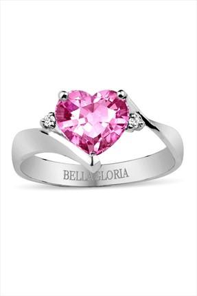 Bella Gloria Kadın Pembel Kuvars Pırlanta Aşk Yüzüğü GPY0056