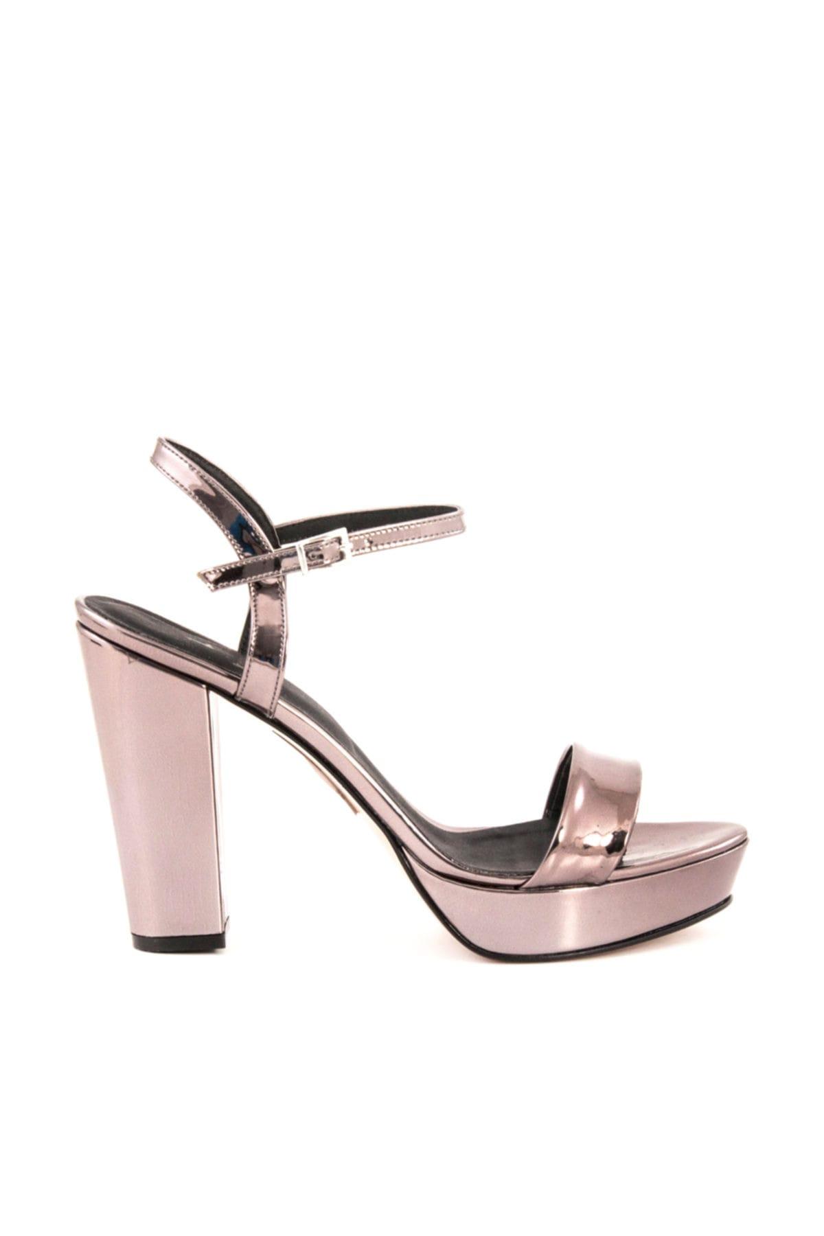 Tanca Platin Kadın Klasik Topuklu Ayakkabı  162Tck456 604 1