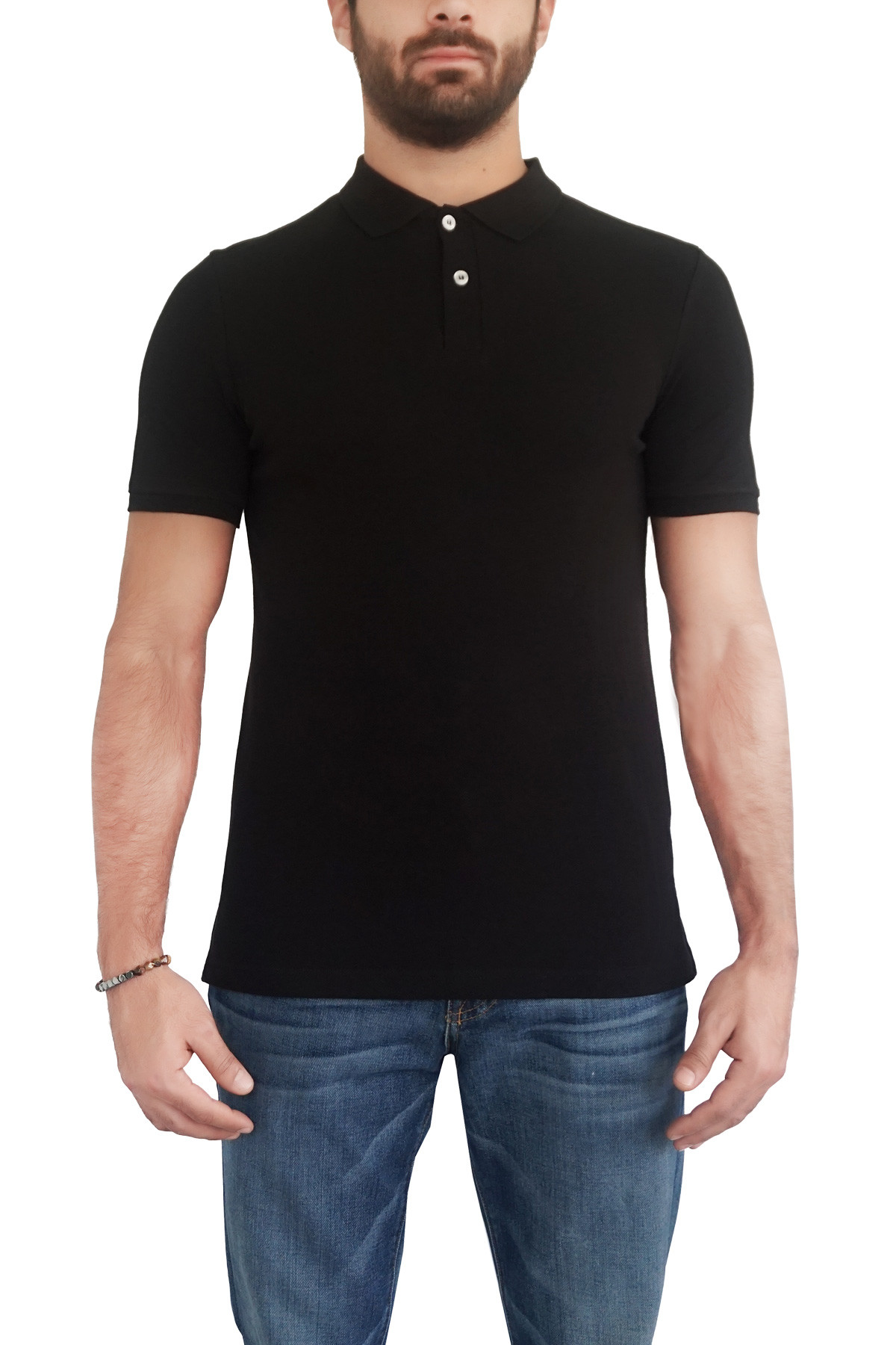 MOF Erkek Siyah T-Shirt POLO-S 1