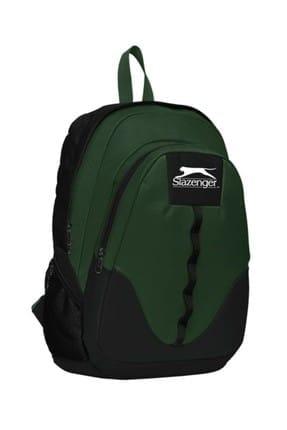 Slazenger Slazenger İki Bölmeli Siyah-Haki Yeşil Sırt Çantası