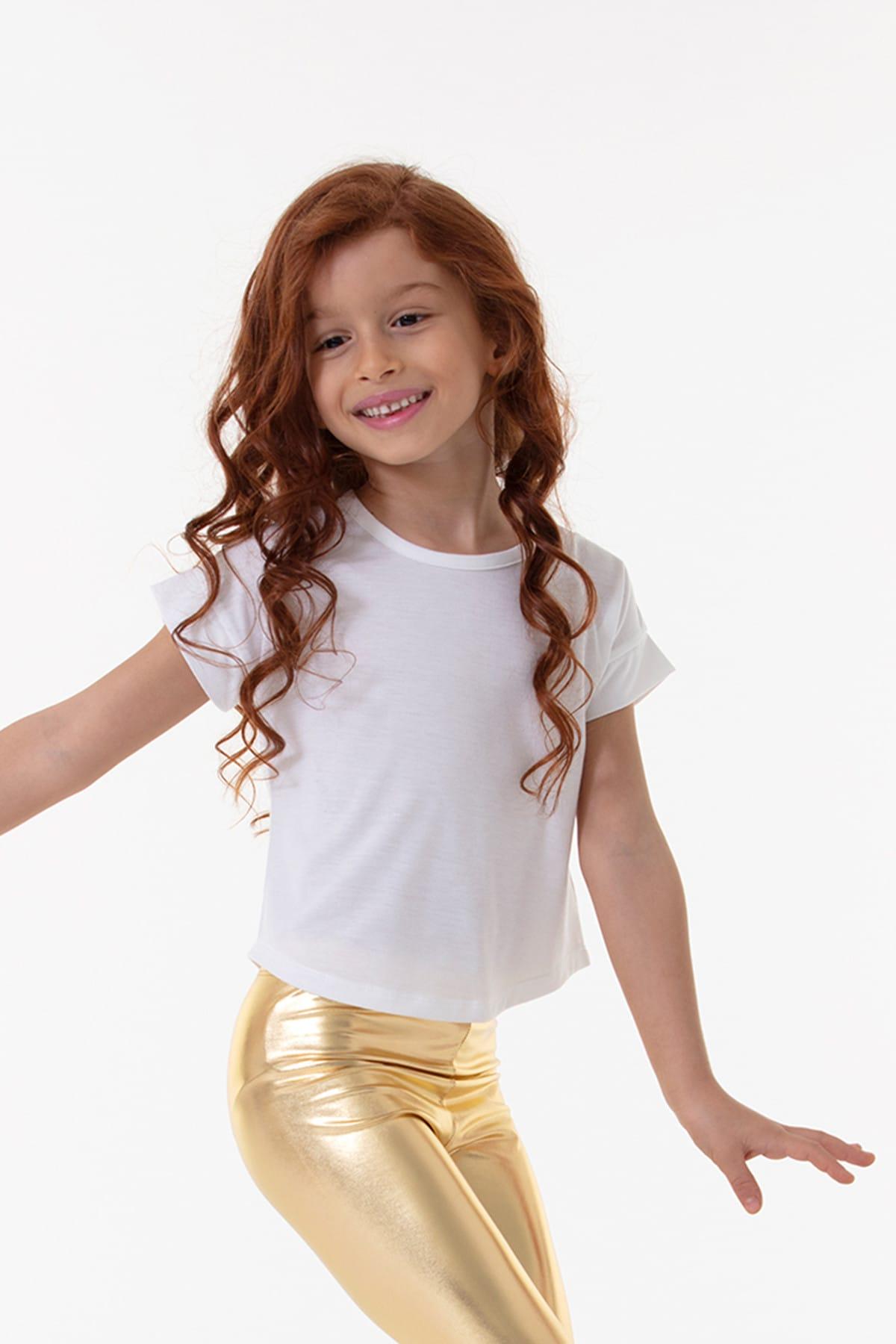 Colorinas Angel Tshirt Short Sleeve White 1