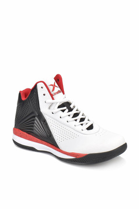 Kinetix POINT Beyaz Siyah Kırmızı Erkek Basketbol Ayakkabısı 100313507