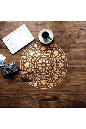 Artikel Mandala Stencil Boyama Şablonu 30x30 cm, Duvar Stencil, Fayans Stencil, Mobilya Stencil