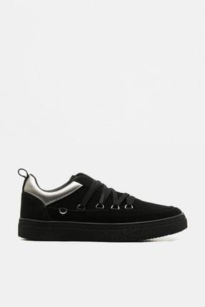 Koton Erkek Siyah Sneaker 9KAM22016AA
