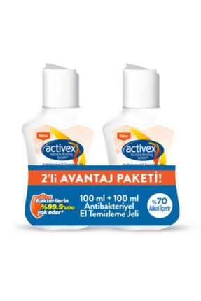 Activex Antibakteriyel El Temizleme Jeli 2x100 Ml