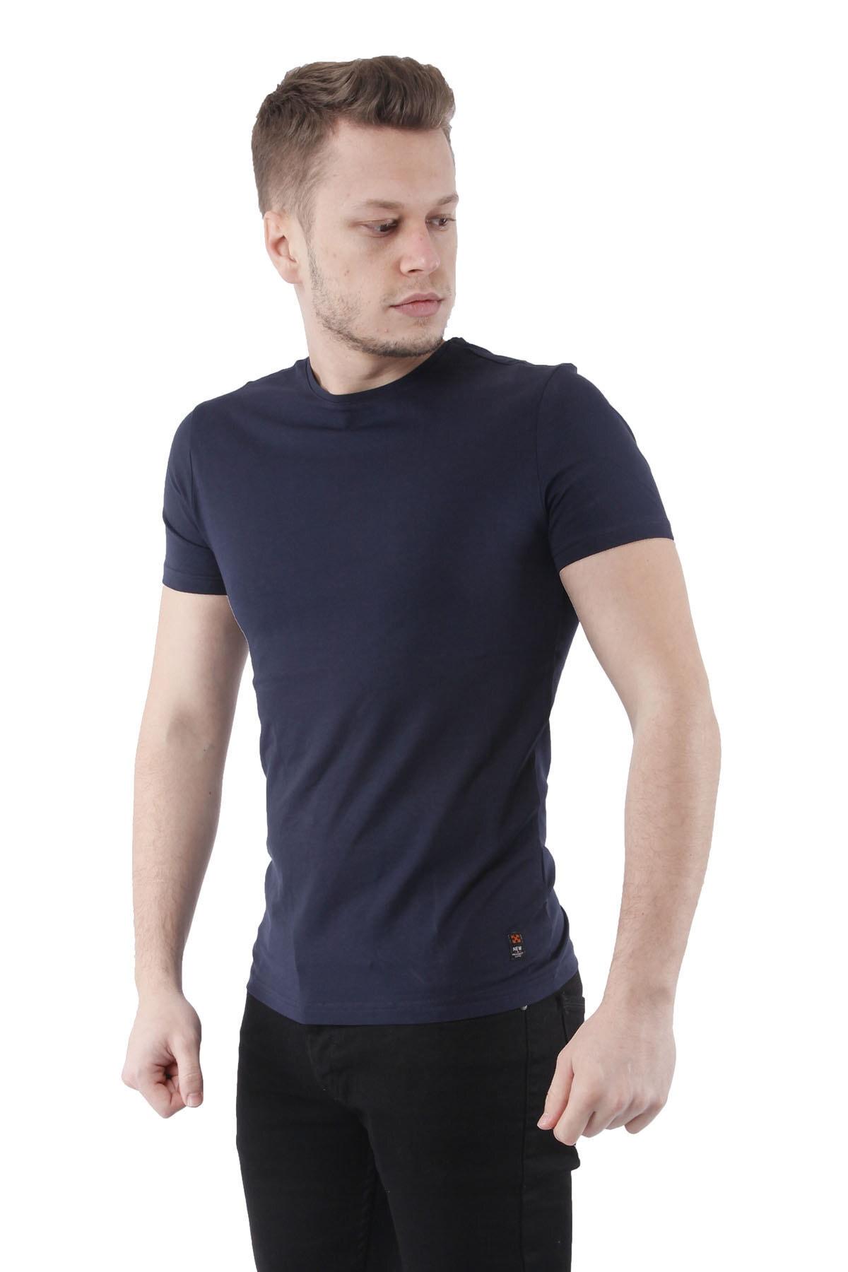 Canelia Lacivert Erkek Slimfit T-shirt 2