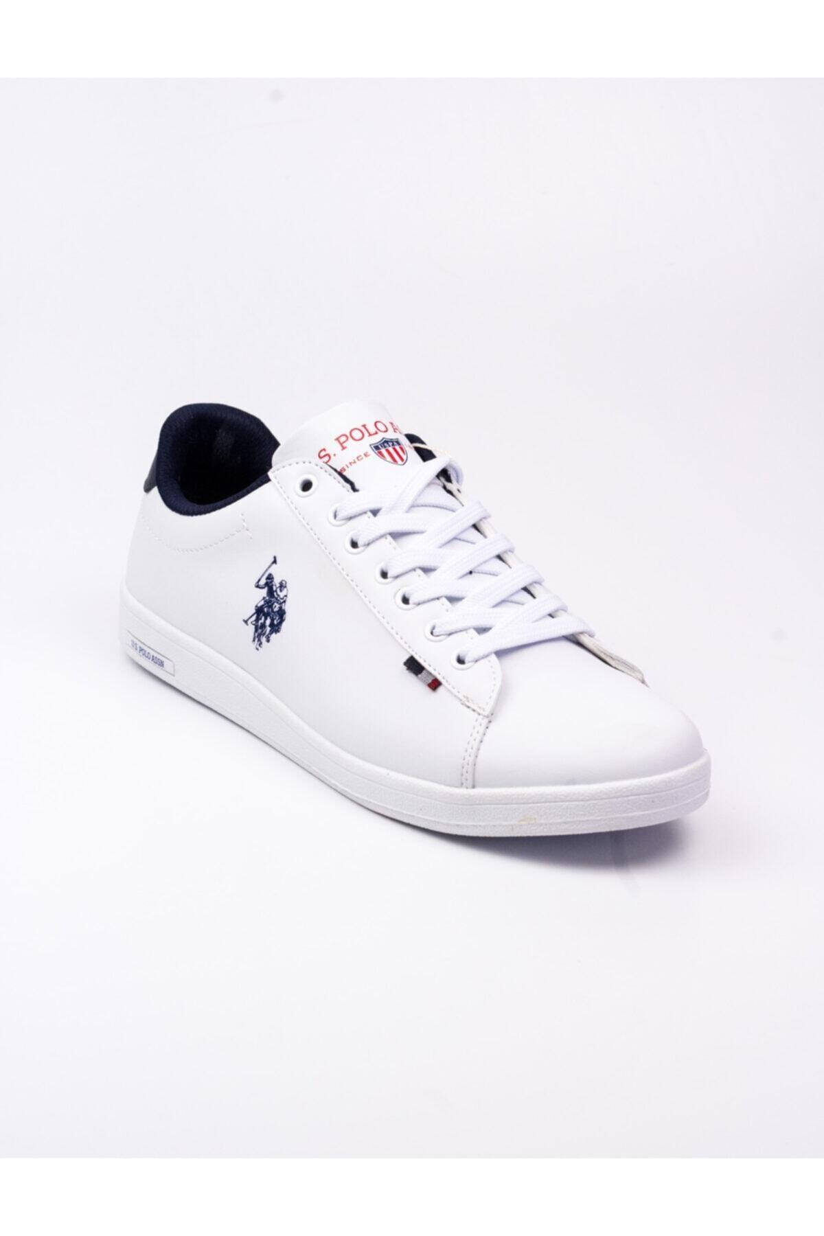 U.S. Polo Assn. Franco Sneakers Erkek Beyaz Ayakkabı 1
