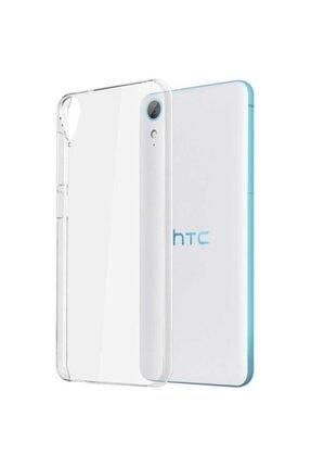 HTC Desire 820 Kılıf Şeffaf Esnek Süper Silikon Model
