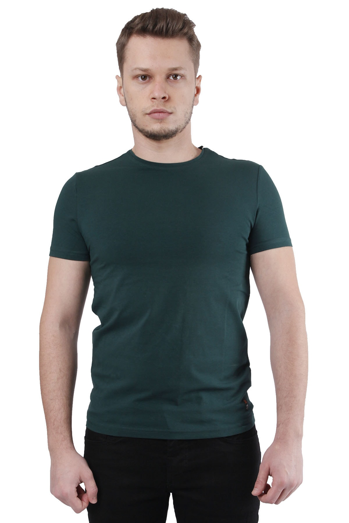 Canelia Koyu Yeşil Erkek Slimfit T-shirt 1