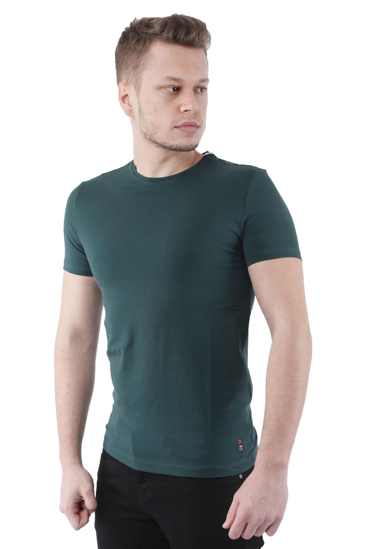 Canelia Koyu Yeşil Erkek Slimfit T-shirt 2
