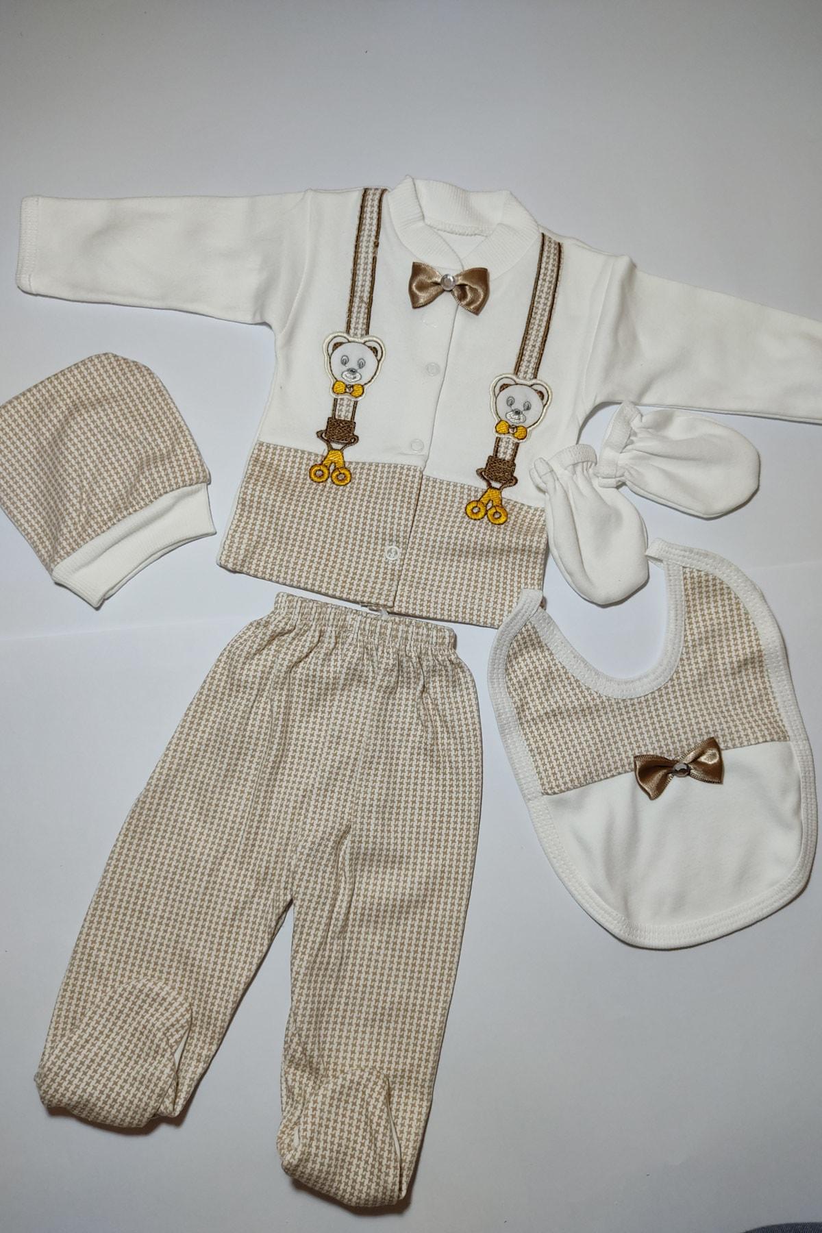 Bombinoo Erkek Bebek Papyonlu Hastane Çıkış Seti 1