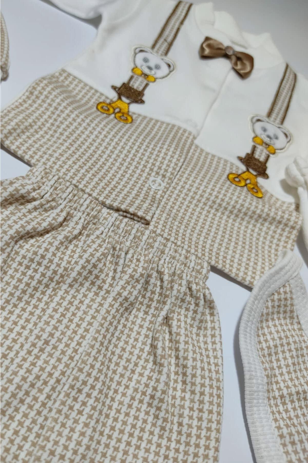Bombinoo Erkek Bebek Papyonlu Hastane Çıkış Seti 2