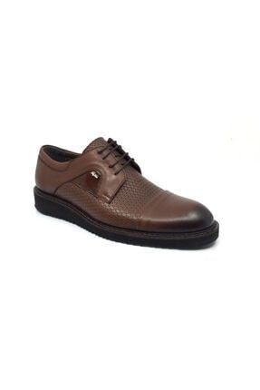Taşpınar Erkek Kahverengi Üçlü Hakiki Deri Rahat Günlük Yazlık Bağcıklı Ayakkabı