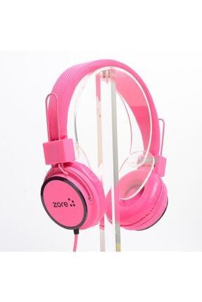 zore Kulaklık Kulak Üstü Hd Ses Kaliteli Pembe Renk Y-6338 Mp3 3.5mm