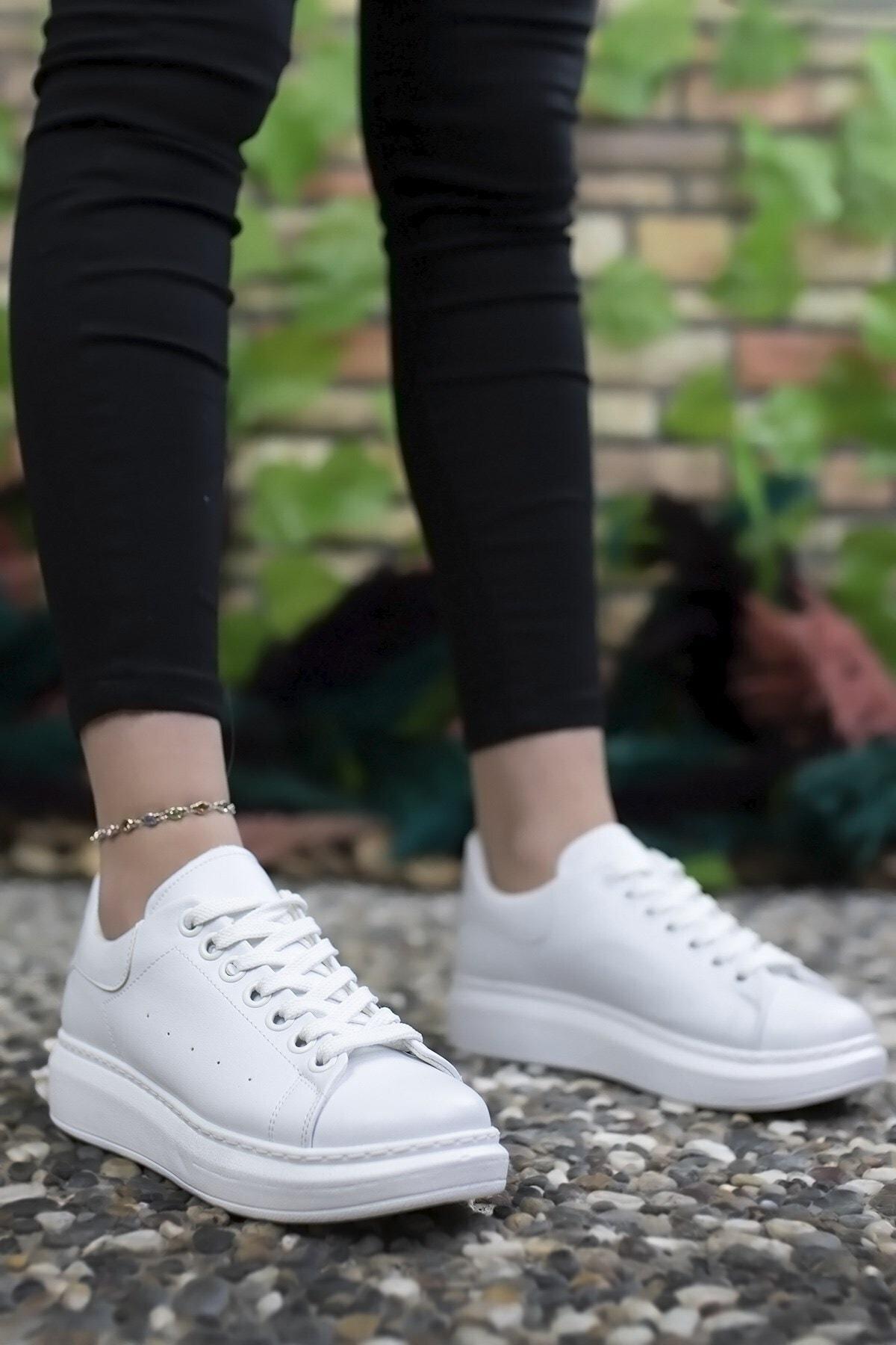 Riccon Kadın Beyaz Sneaker 0012201 1