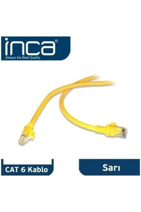 Inca Cat6 20mt Sarı Kablo Patch Icat6-20tyftp