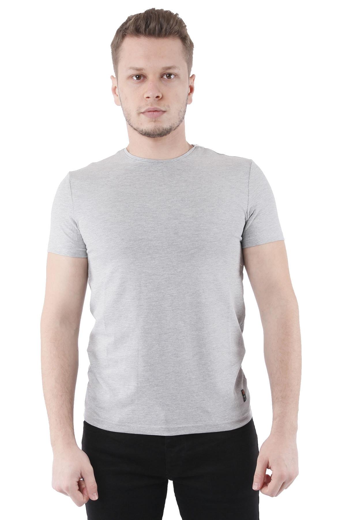 Canelia Gri Erkek Slimfit T-shirt 1