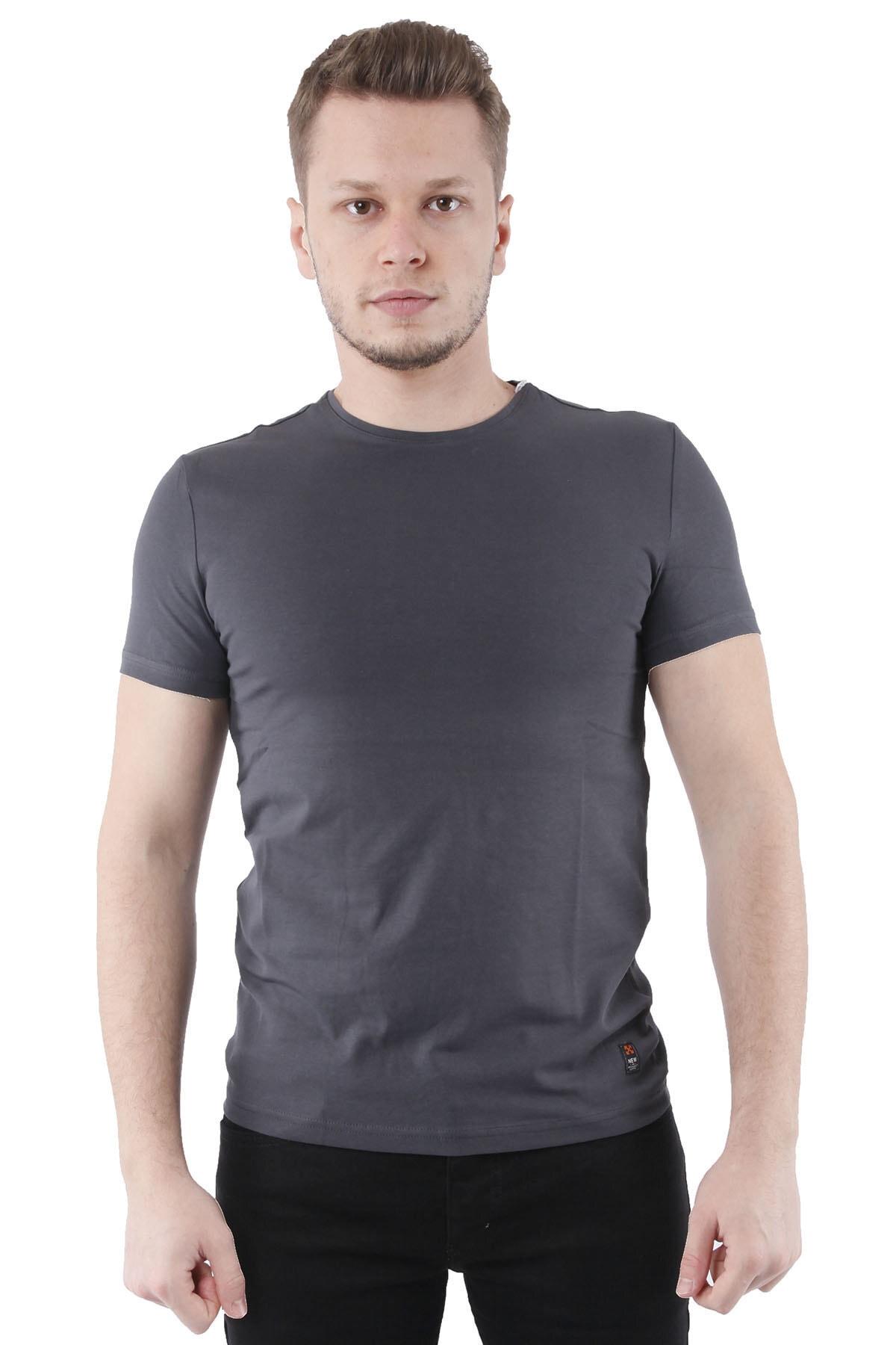Canelia Antrasit Erkek Slimfit T-shirt 1