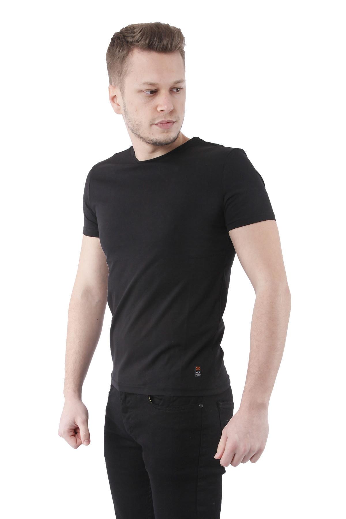 Canelia Siyah Erkek Slimfit T-shirt 2